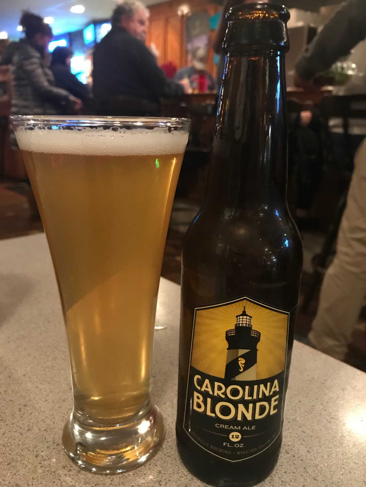 Enjoyed a Carolina Blonde at dinner with my Gorgeous Brunette