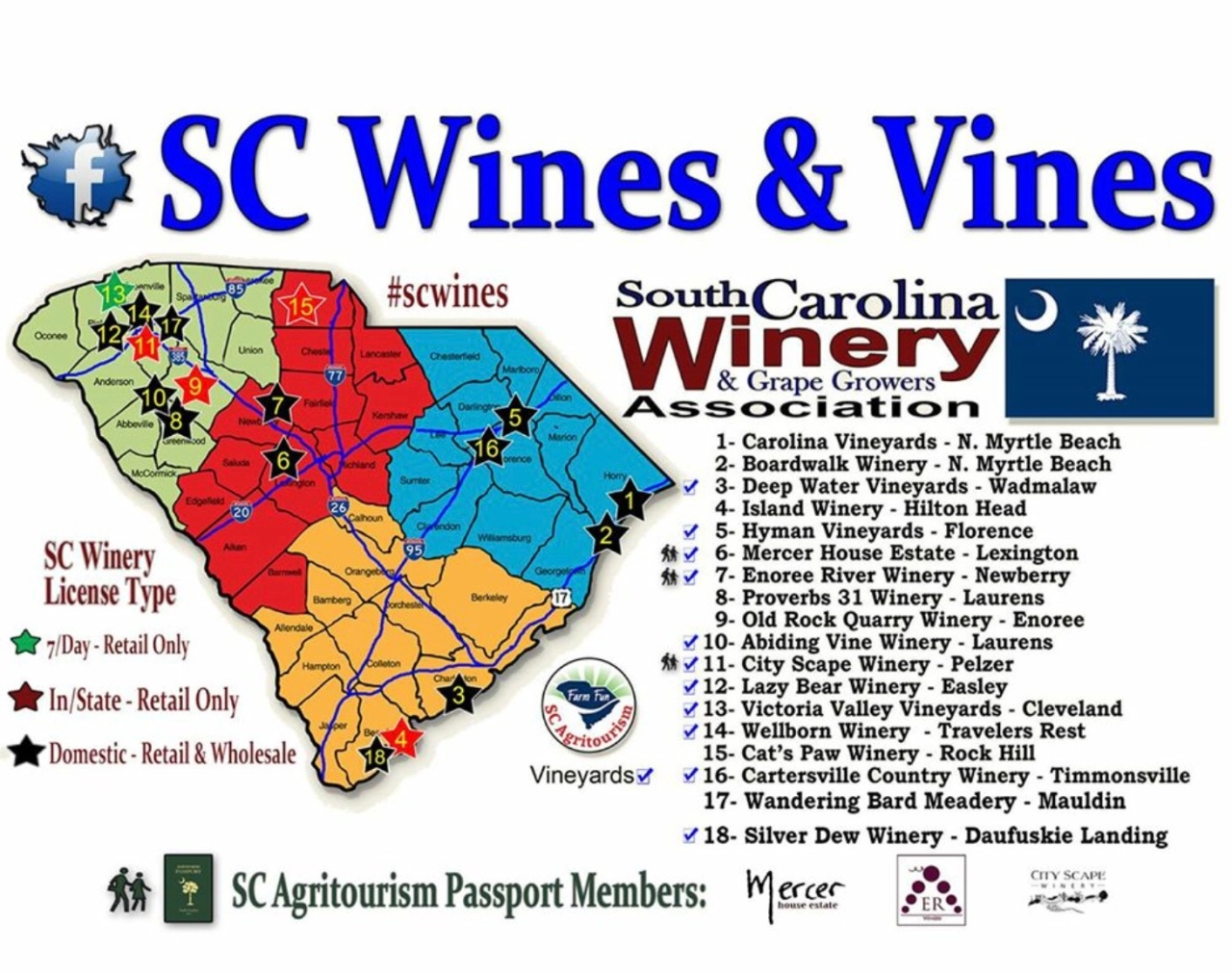 A Few Things We Love About South Carolina Wineries!