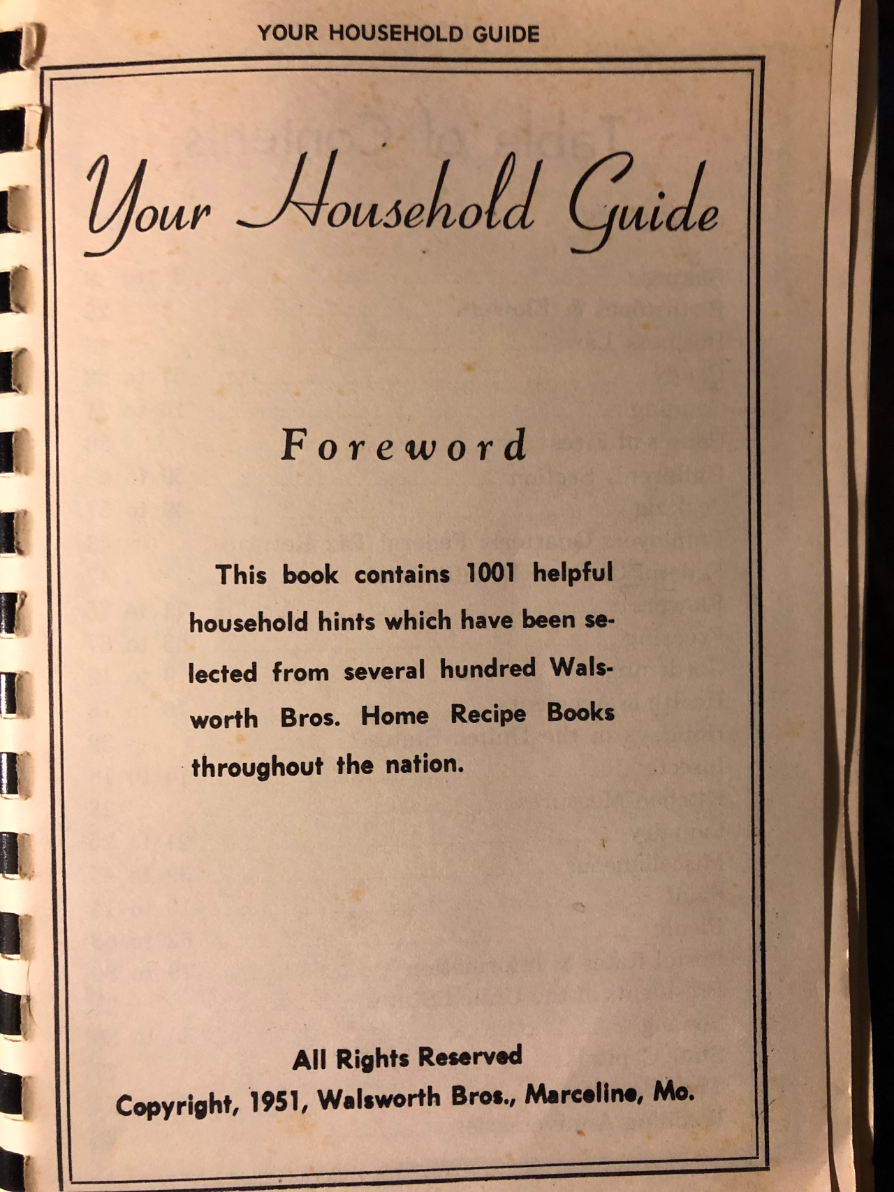 Your Household Guide –1951