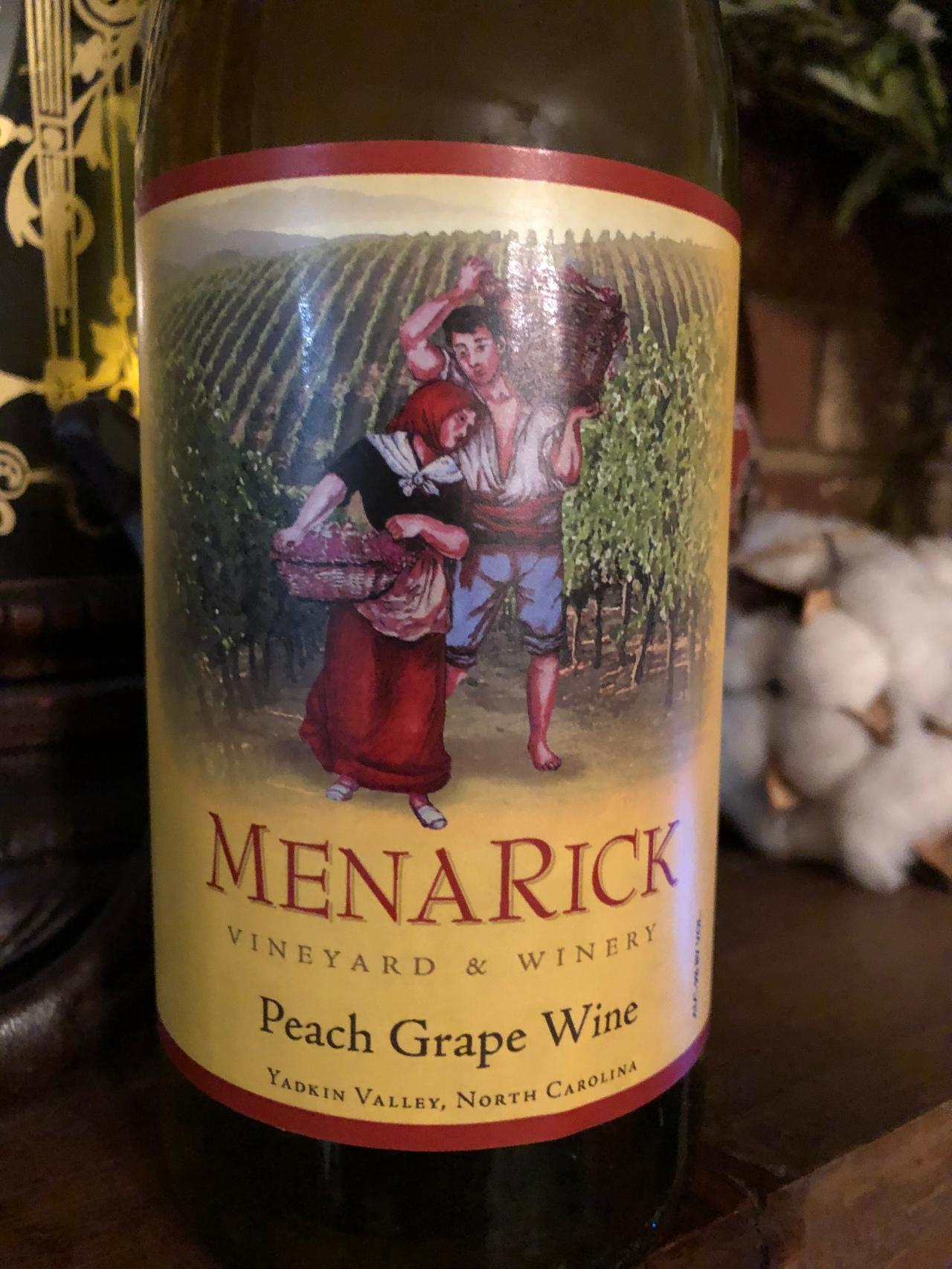 Our Wine Tonight: Peach Grape Wine – MenarickVineyard
